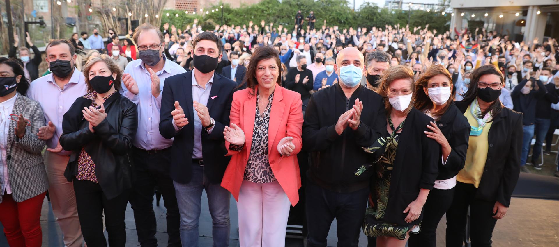 Fuerte respaldo del FAP a la candidatura de García al Senado